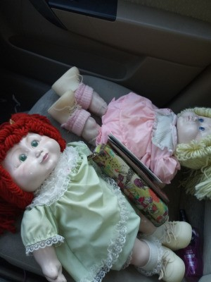 Identifying Porcelain Cabbage Kid Style Dolls - two Cabbage Patch style porcelain dolls