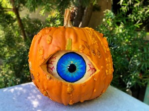 Spooky Double Pumpkin Eyeball - finished craft