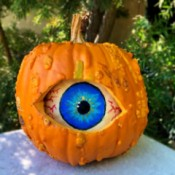 Spooky Double Pumpkin Eyeball - finished craft