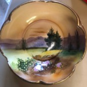 Value of a Noritake Bowl - painted bowl with landscape scene