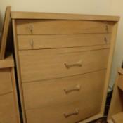 Value of a Vintage Bedroom Suite - tall light finish dresser