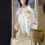 Value of a Seymour Mann Connoisseur Collection Doll - bride doll in the box