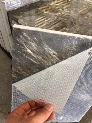 Using Epoxy on Stone - stone with white mesh backing