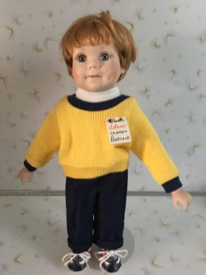 Finding a Replacement Elke Hutchens MBI Doll  - doll with crack on left side of face