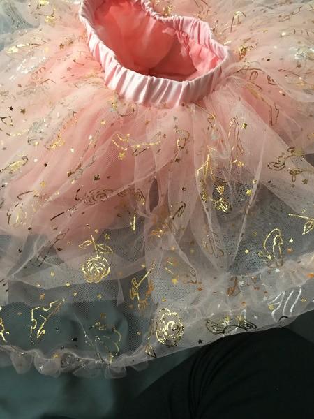 Gold Foil Decorations Coming Off Disney Tutu