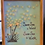 More State Fair Projects - dandelion framed artwork using tile spacers