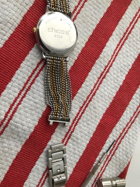 Shortening a Watch Band with Links  - links removed