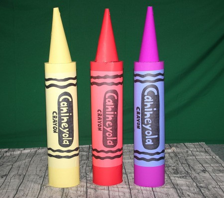 Colorful Box of Crayons Costume - homemade additional 3 crayons