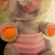 Identifying a Stuffed Elephant - pink and grey elephant