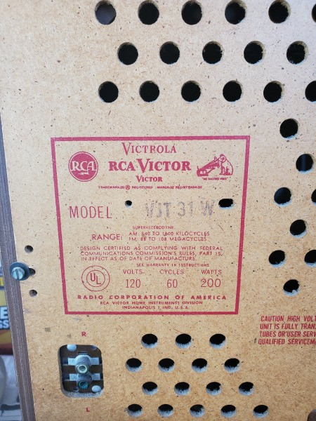 Value of an RCA Victor Model vjt31w Console Stereo
