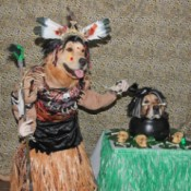 Witch Doctor and Shrunken Head Costumes - finished witch doctor and shrunken head