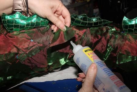 Constructing the Medusa costume.
