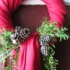 Using Winter Scarf As Wreath Cover