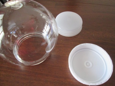 Budget Friendly Snow Globe - globe with base and cap removed