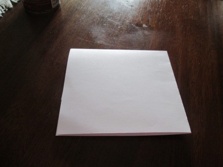 Making A Lantern Part Of Your Holiday Decor - sheet of white paper