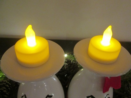 Drinking Glass Candle Holders - battery tea lights