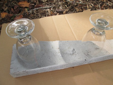Drinking Glass Candle Holders - clean and dry stemmed glasses