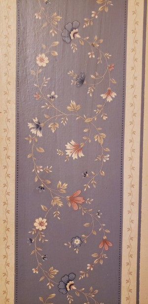 Looking for Discontinued Wallpaper - blue background with pretty floral pattern