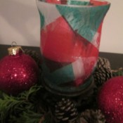 DIY Stained Glass Candle Holder