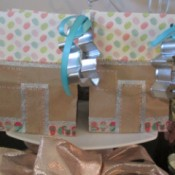 Gingerbread House Gift Bags - two finished bags
