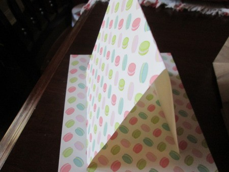 Gingerbread House Gift Bags - sheets of craft paper