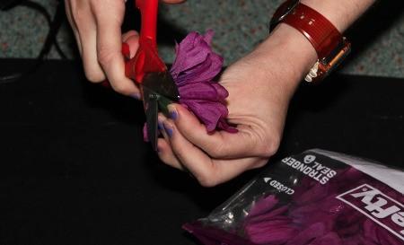 Enchanting Flower Fairies - preparing the flowers