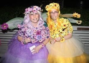Enchanting Flower Fairies - fairies sitting next to each other