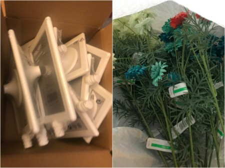 Inexpensive Wedding Table Number/Menu Holder - supplies