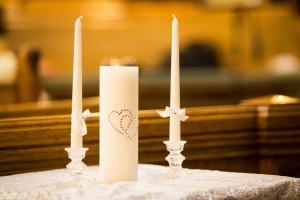 Unity wedding candles.
