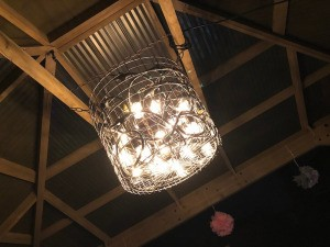 DIY LED Chandelier - lighted chandelier