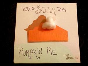 3D Pumpkin Pie Card - finished card