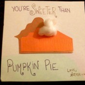 3D Pumpkin Pie Card - finished card