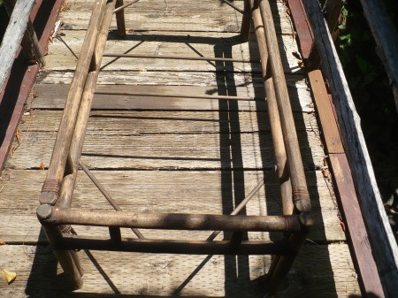 Repairing A Bamboo Coffee Table - supplies, table frame