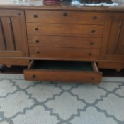 Information on a Lane Cedar Chest - chest with a lower drawer open