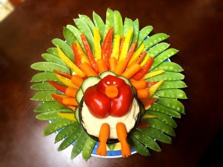 Thanksgiving Turkey Veggie Tray - awesome turkey veggie tray