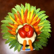 Thanksgiving Turkey Veggie Tray - awesome turkey veggie tray