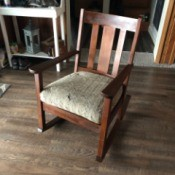 Value and Age of a Murphy 711 Rocking Chair - rocking chair with upholstered seat