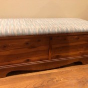 Value of a Lane Cedar Chest - chest with an upholstered top