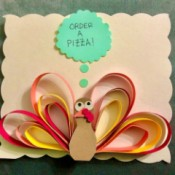 3D Funny Turkey Card
