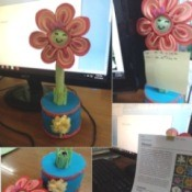 Flower Foam Pen Case and Stand - montage of the multi-purpose flower pen and stand