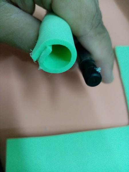 Flower Foam Pen Case and Stand - rolling the foam strip