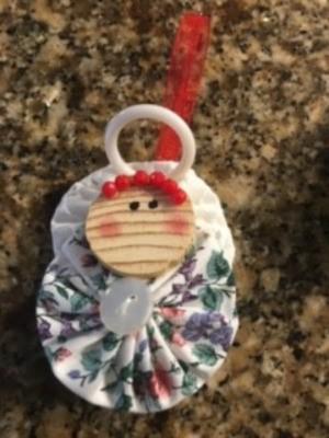 Yo Yo Christmas Angel Ornament - finished ornament