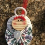 Yo Yo Christmas Angel Ornament - finished ornament