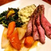 Roast Beef meal on plate