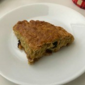 baked Raisin Oatmeal Scone on plate