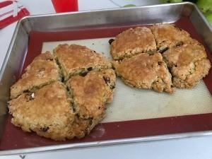baked Raisin Oatmeal Scones