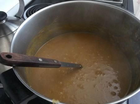 Butternut Squash Soup in pan