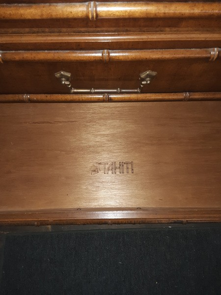 Value of a Dixie Tahiti Faux Bamboo Dresser