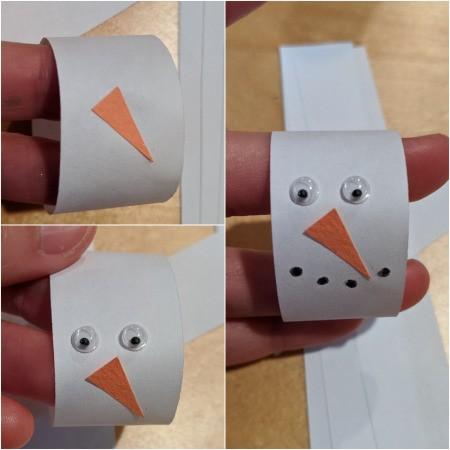 Snowman/Joy Paper Chain Ornament - decorate one as a snowman