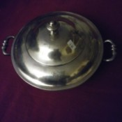 Distinguishing Between Silver and Silver Plate - covered serving dish